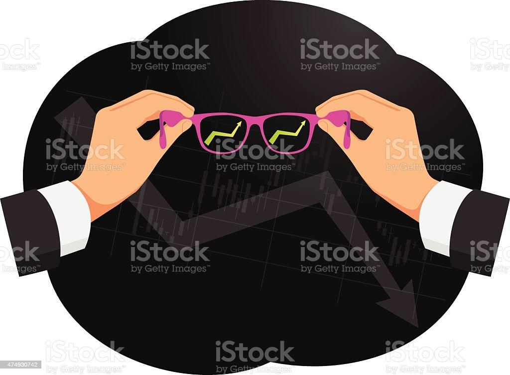Pink glasses vector art illustration