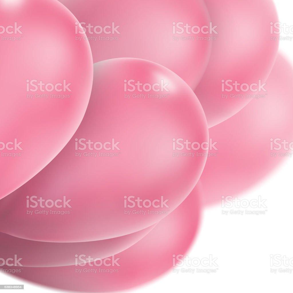 Pink glossy balloons. EPS 10 vector art illustration