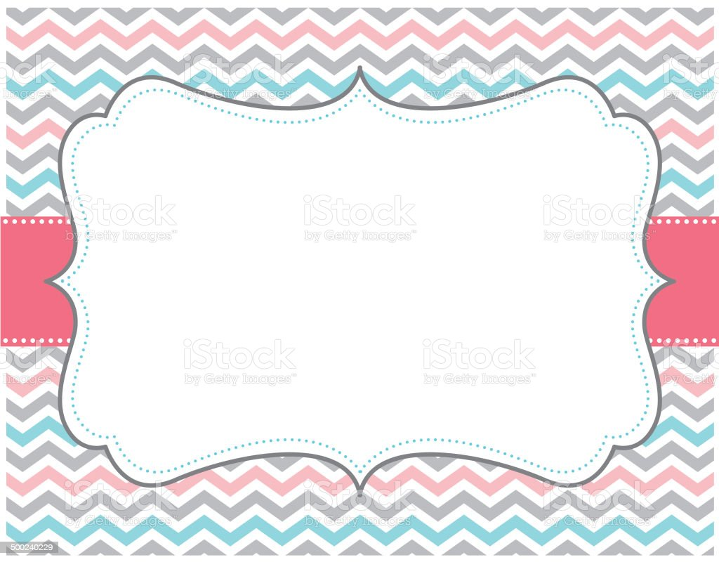 pink grey teal chevron background stock vector art