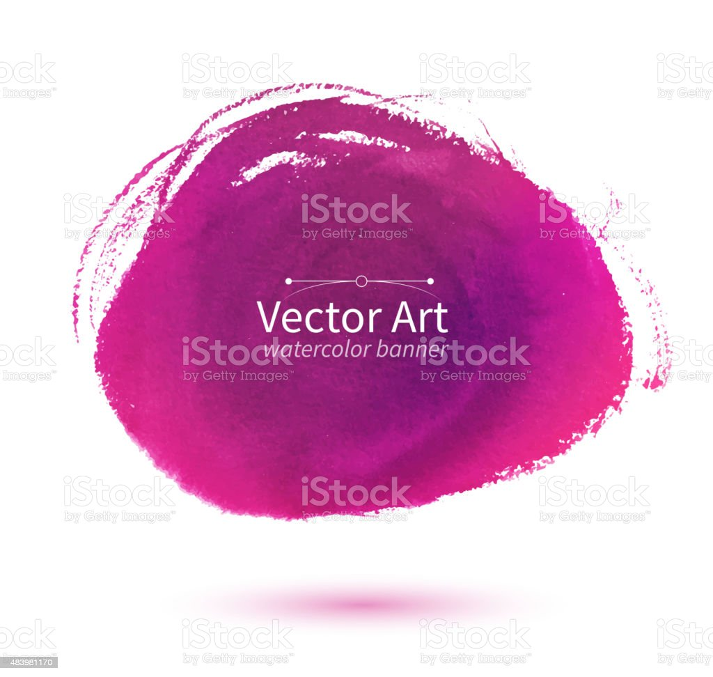 Pink hand drawn stain. vector art illustration