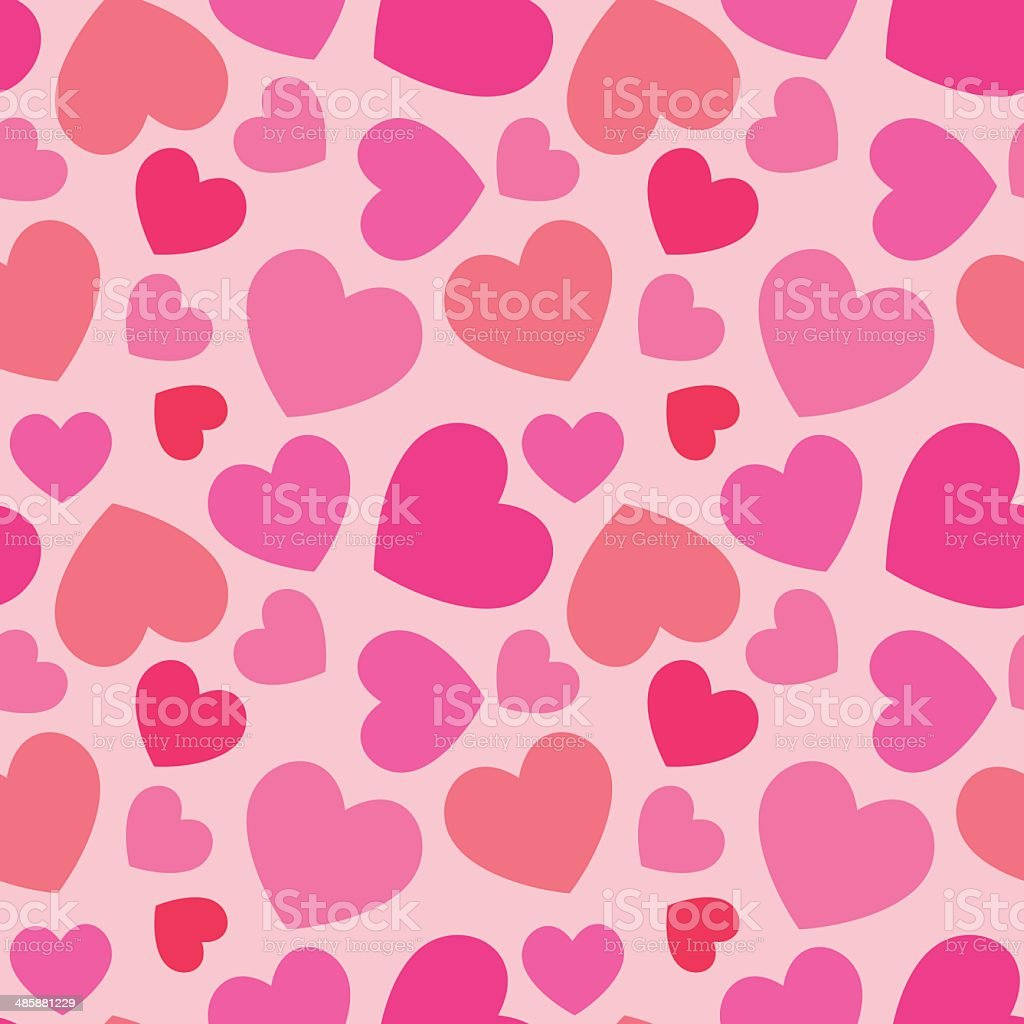 pink heart seamless pattern royalty-free stock vector art