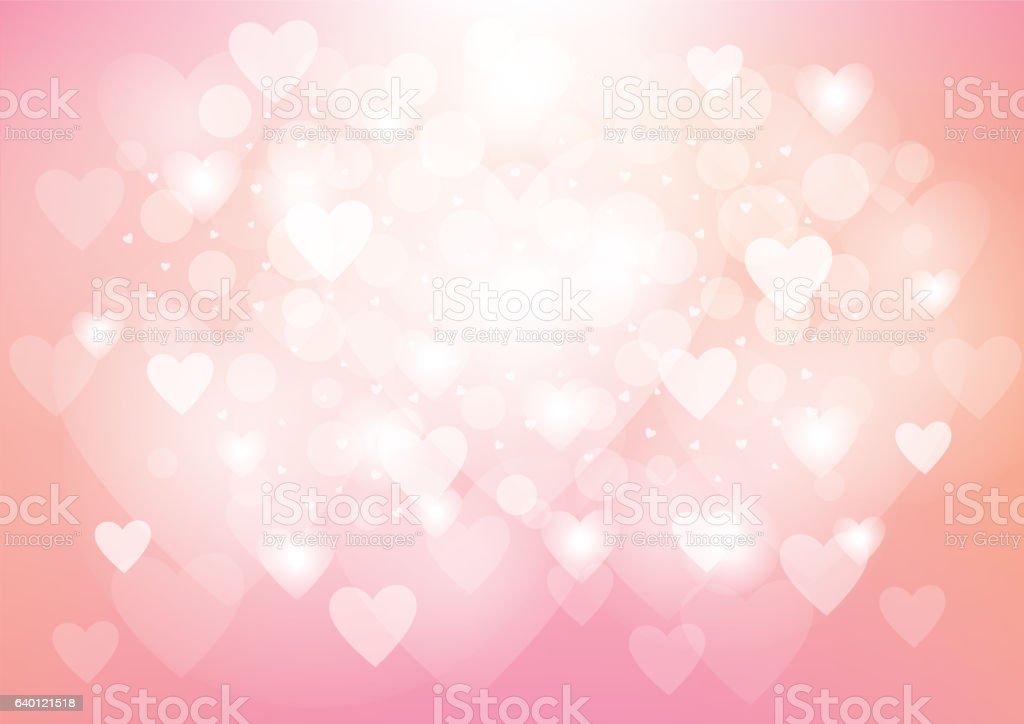Pink Heart Valentine's Day Background vector art illustration