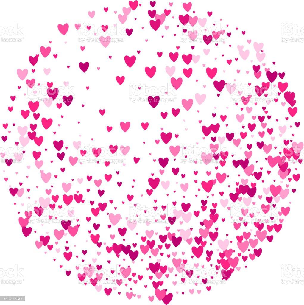 Vector heart pink