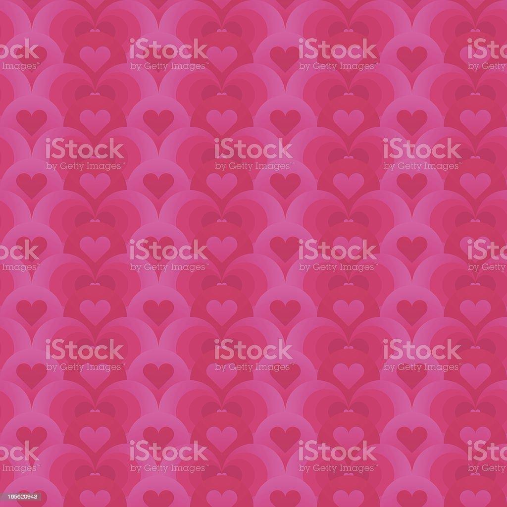 Pink hearts seamless royalty-free stock vector art