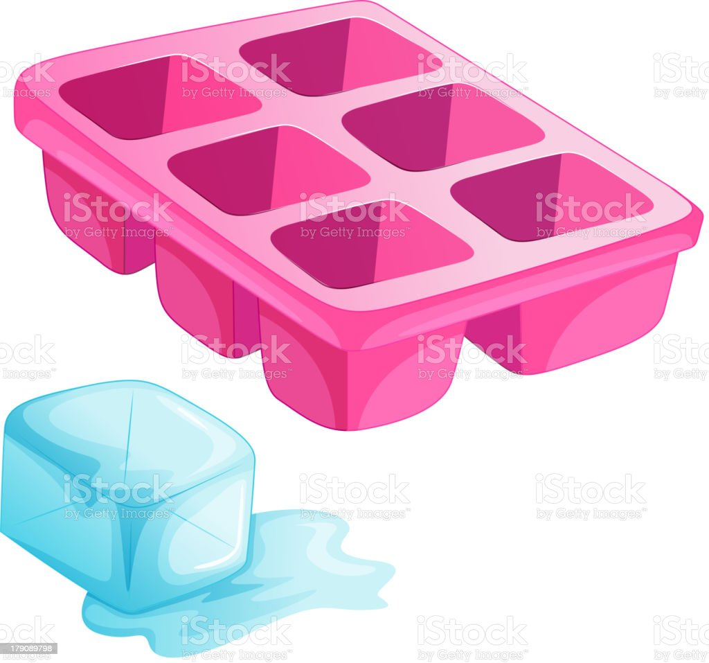 Pink ice tray royalty-free stock vector art