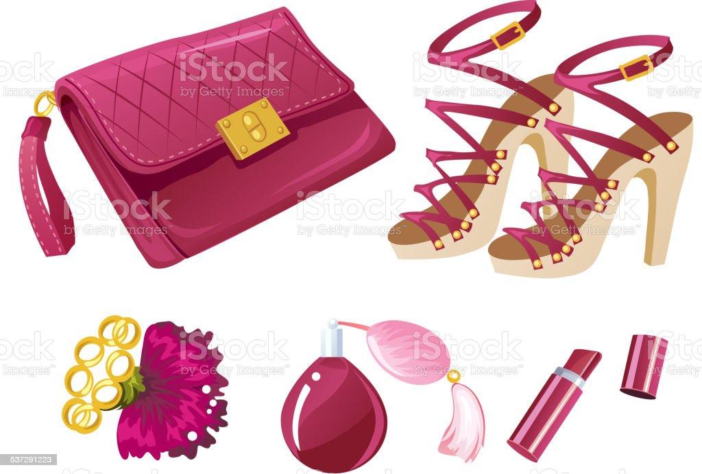 Pink is a new black vector art illustration