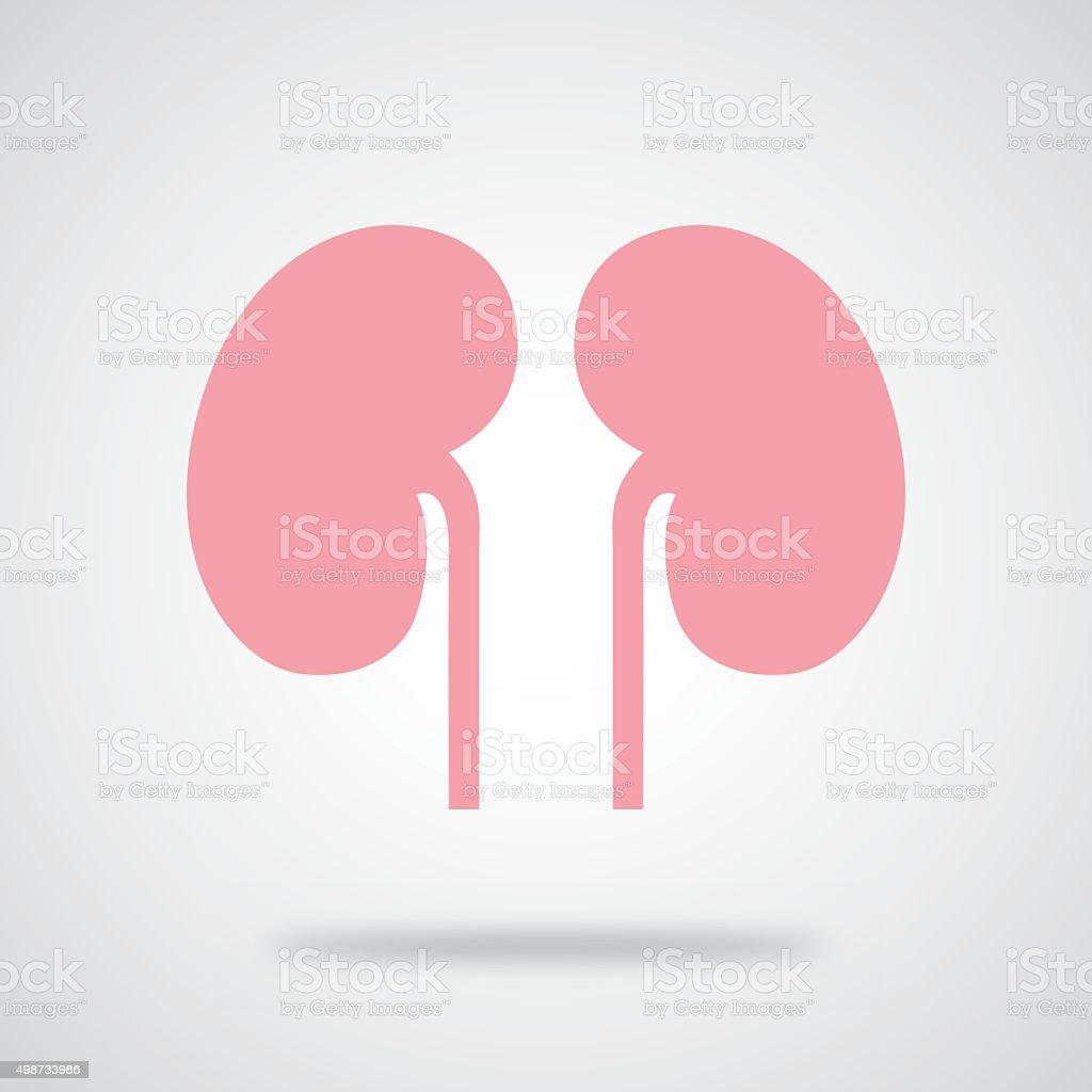 Pink Kidneys Icon vector art illustration