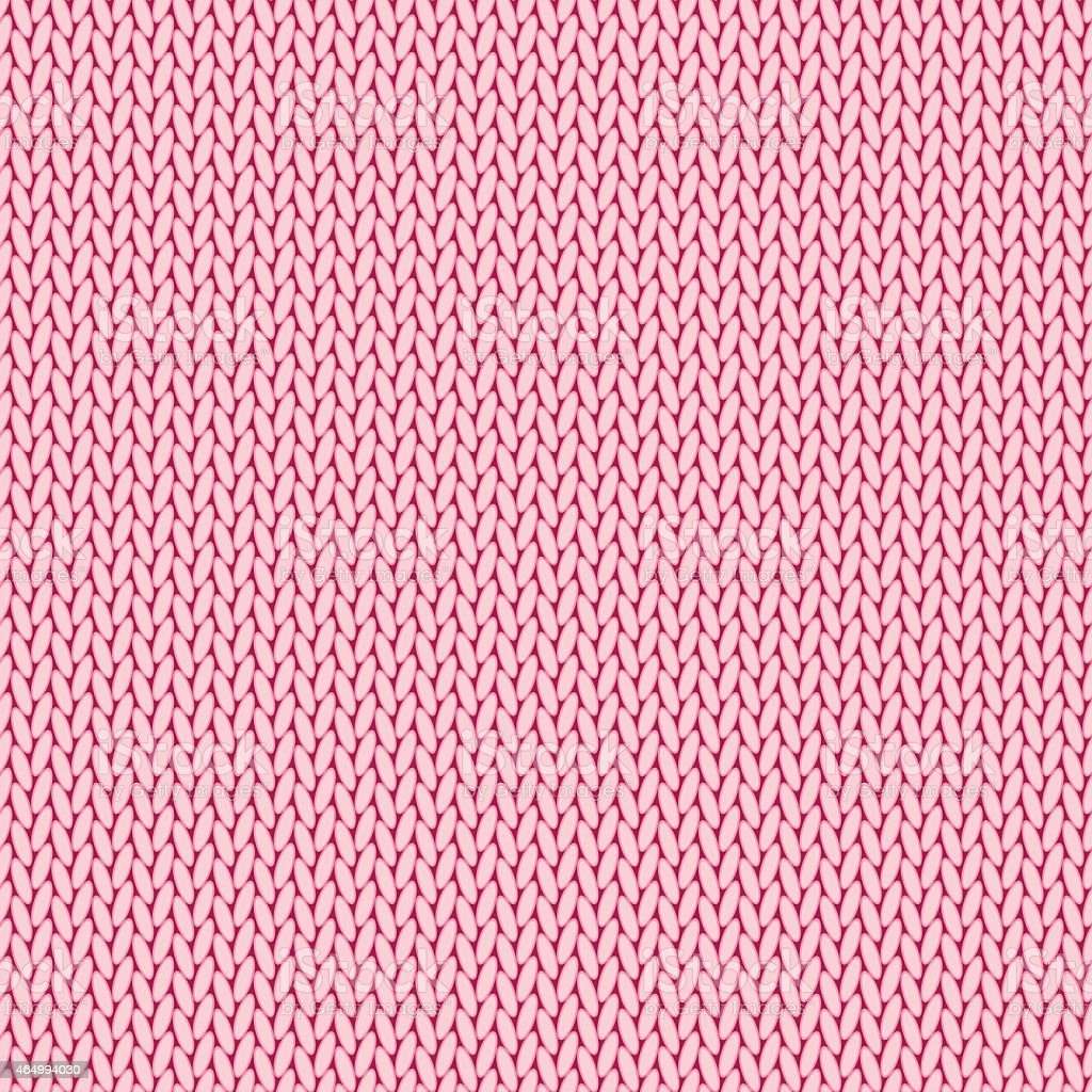 Pink knitted background vector art illustration