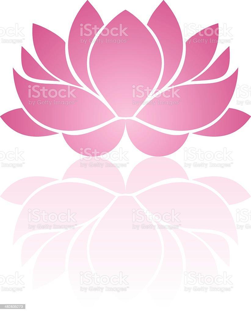 Pink lotus. Eps-10 vector illustration. royalty-free stock vector art