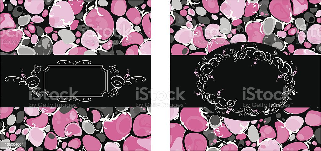 Pink Marble Designs royalty-free stock vector art