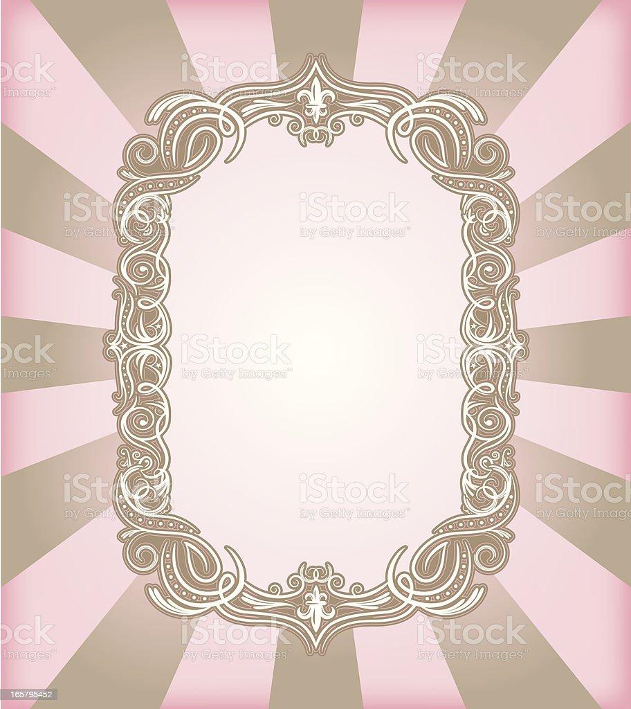 Pink Niché Frame vector art illustration