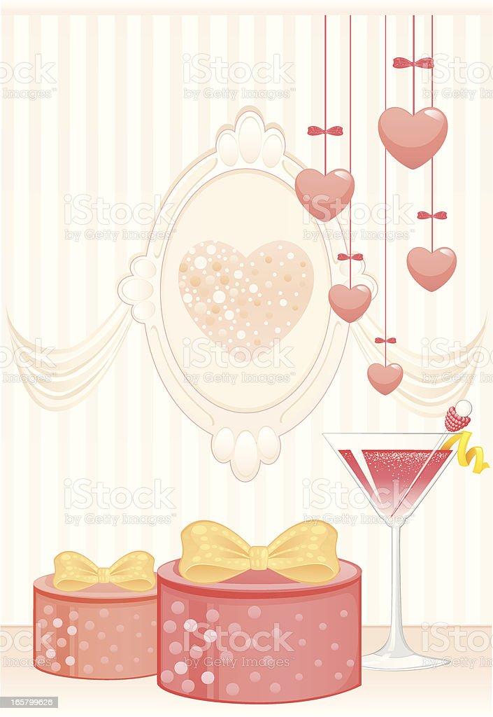 Pink Party Decoration vector art illustration