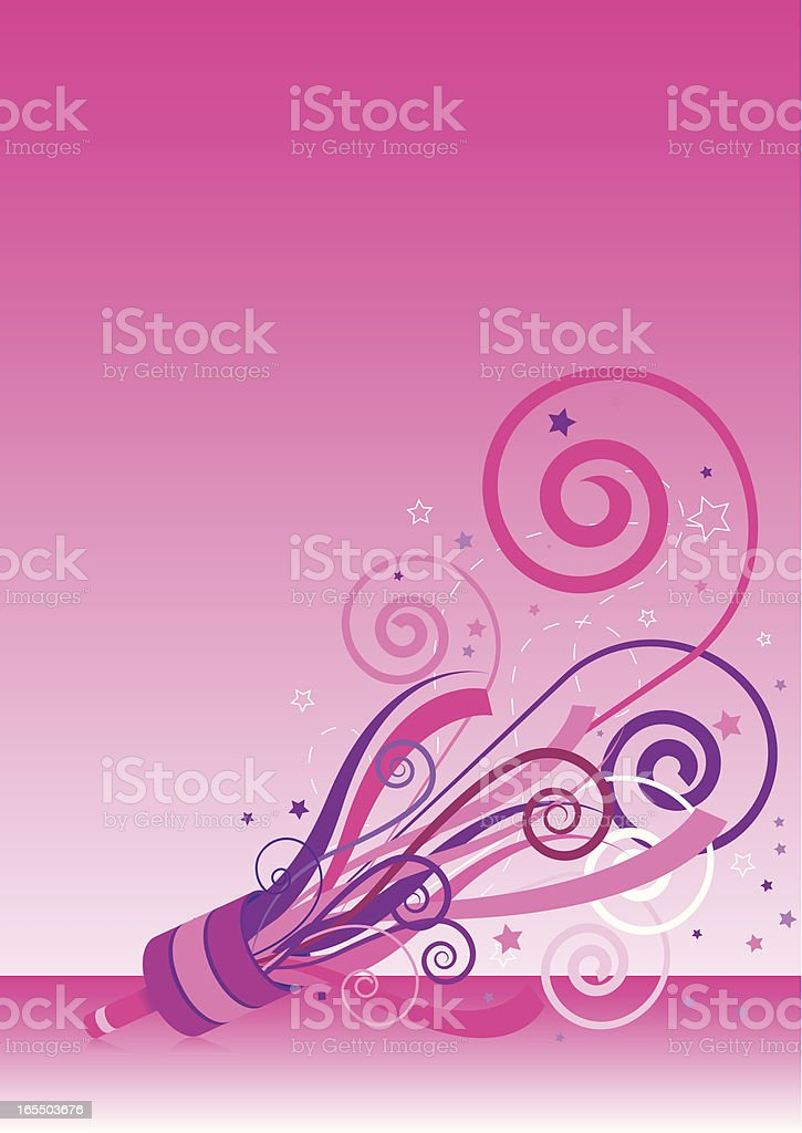 Pink Party Popper royalty-free stock vector art