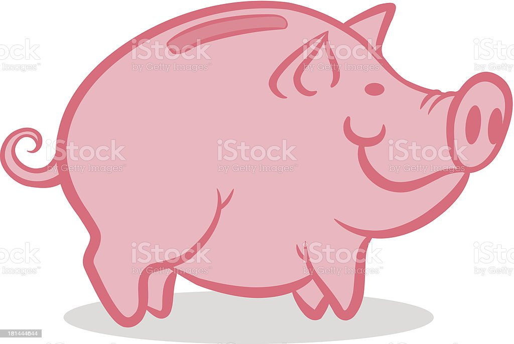 Pink pig royalty-free stock vector art