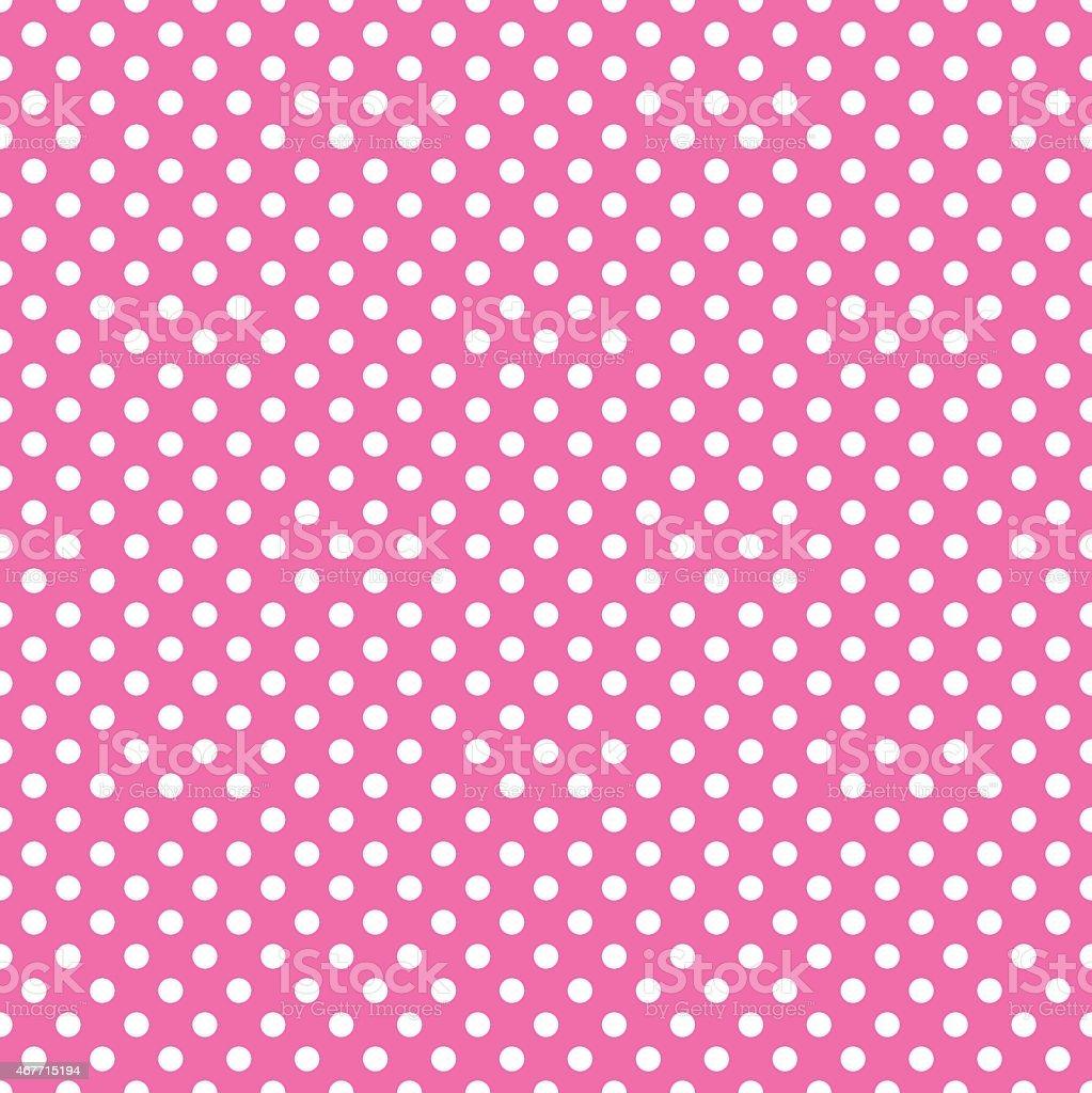 pink polka dot vector art illustration