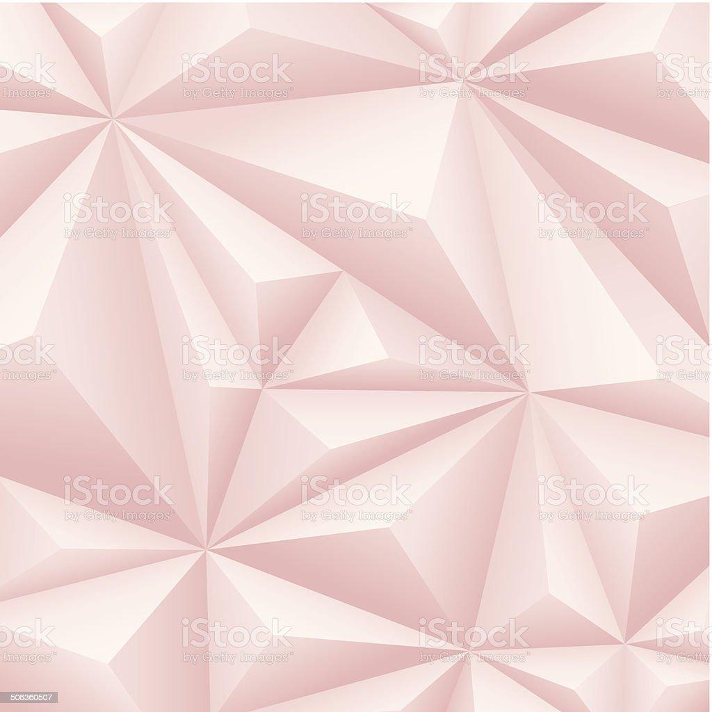 Pink polygon background. vector art illustration