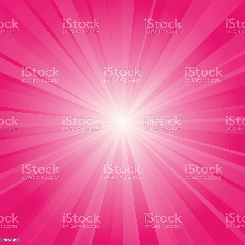 pink ray background vector art illustration