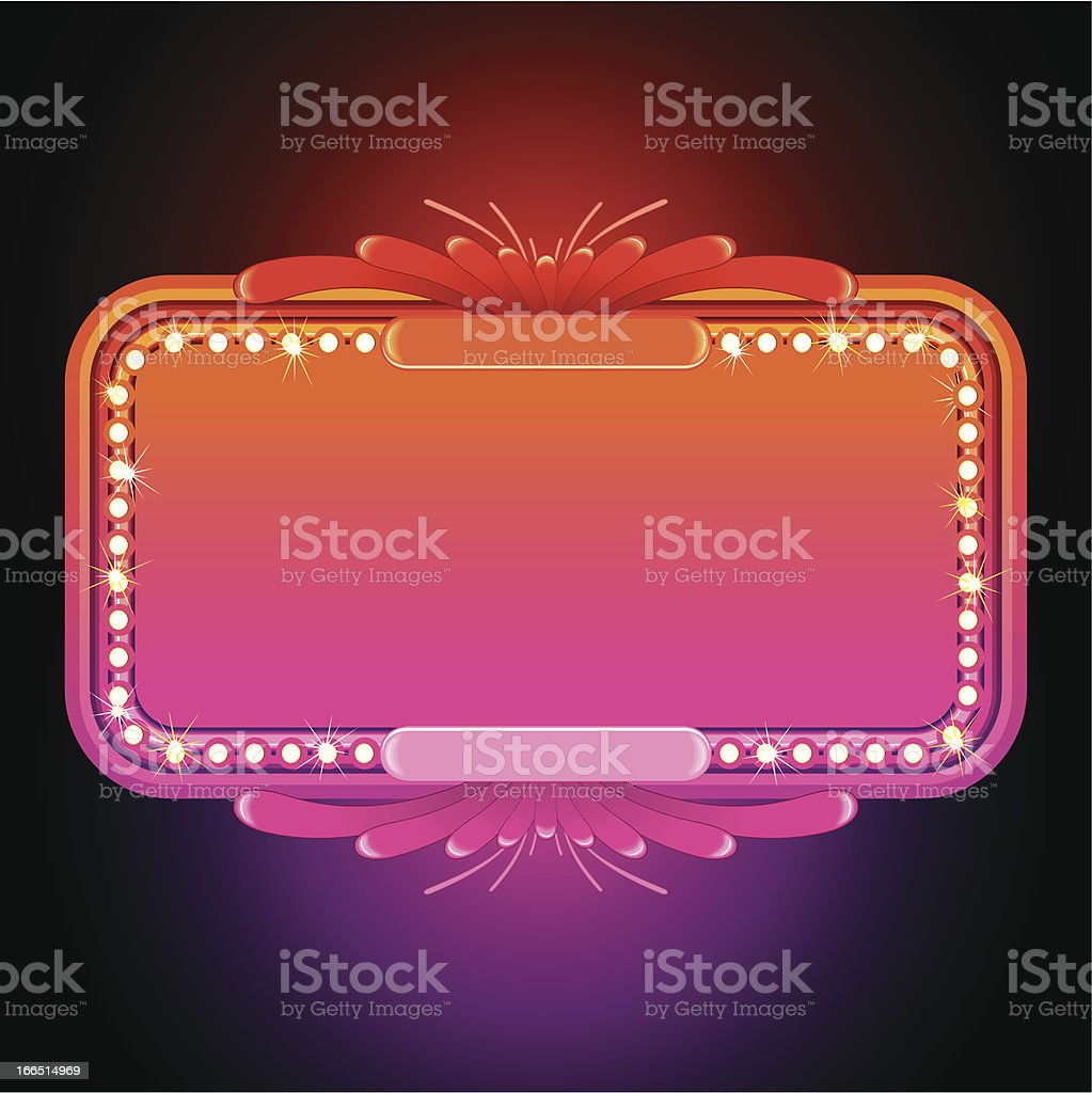 Pink Retro Marquee royalty-free stock vector art