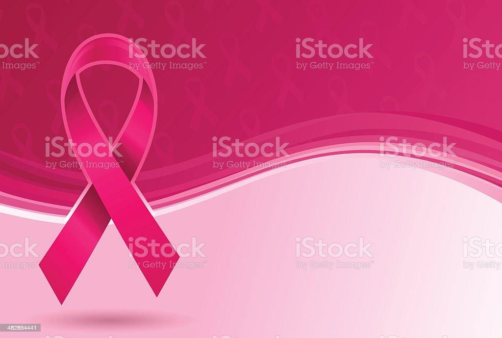 Pink Ribbon Background vector art illustration
