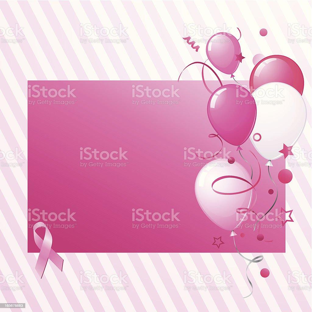 Pink ribbon card royalty-free stock vector art