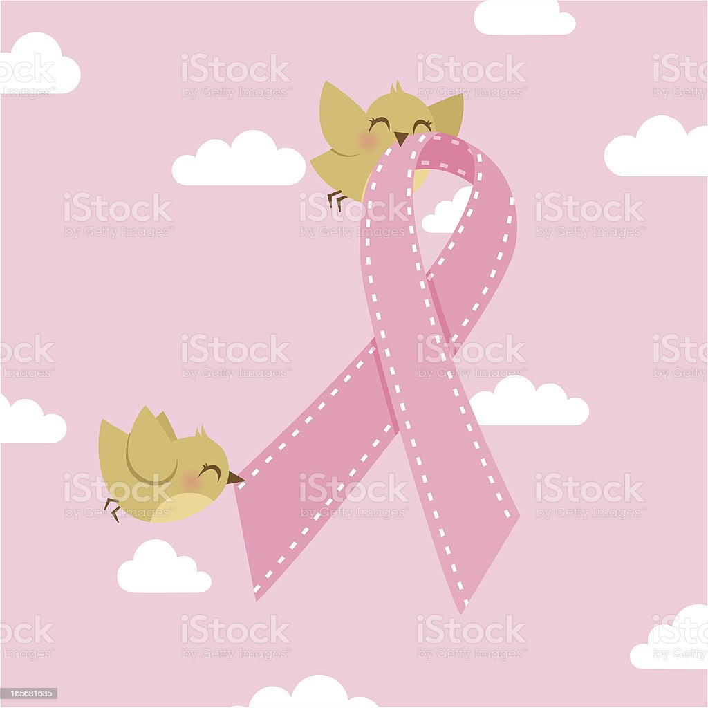 ♥ pink ribbon royalty-free stock vector art