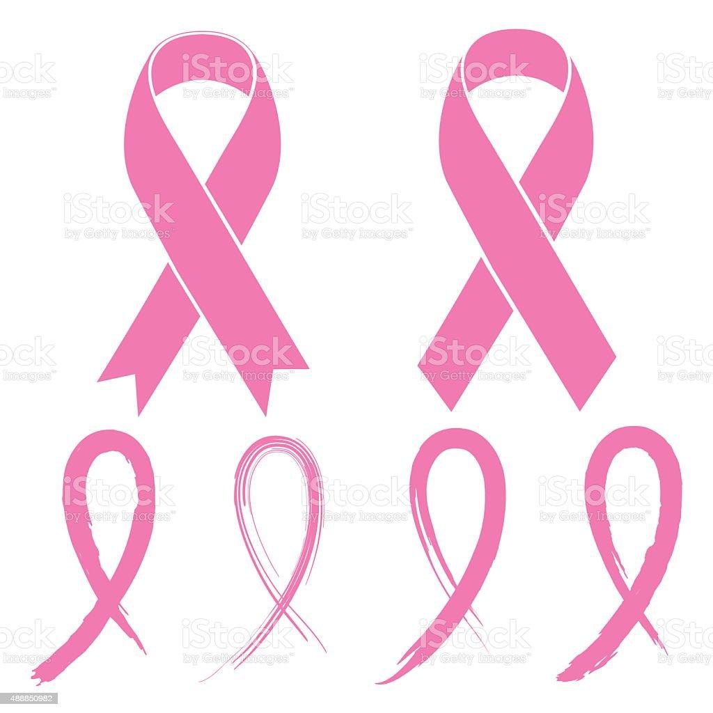 Pink Ribbon vector art illustration