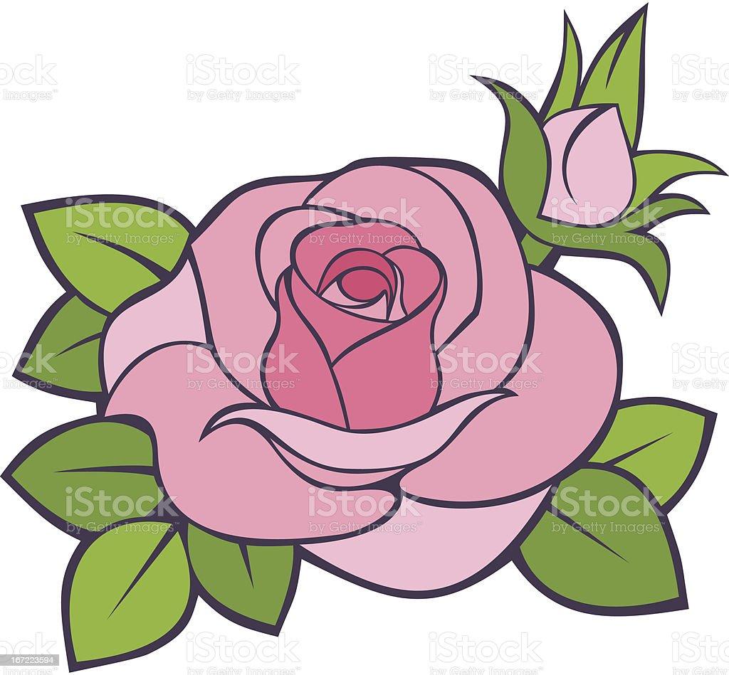 Pink rose. Vector illustration. royalty-free stock vector art