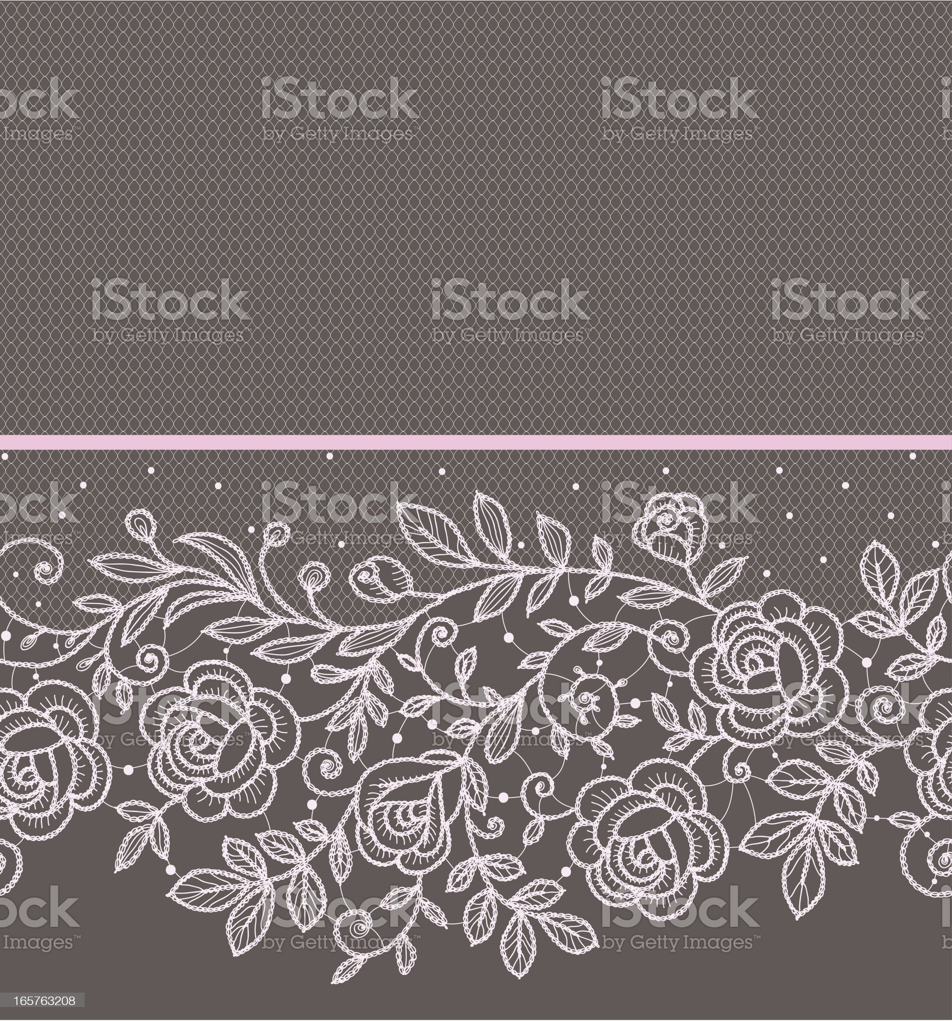 Pink roses lace horizontal Seamless Pattern. royalty-free stock vector art