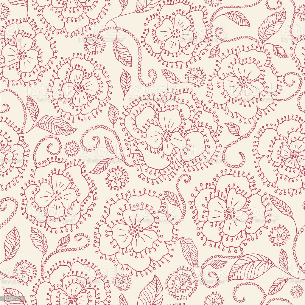 A pink seamless floral pattern royalty-free stock vector art