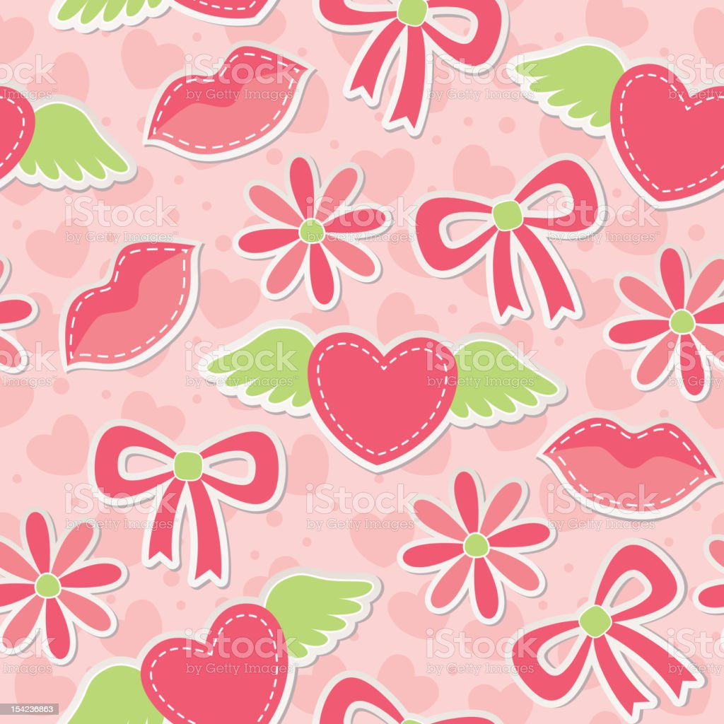pink seamless pattern royalty-free stock vector art