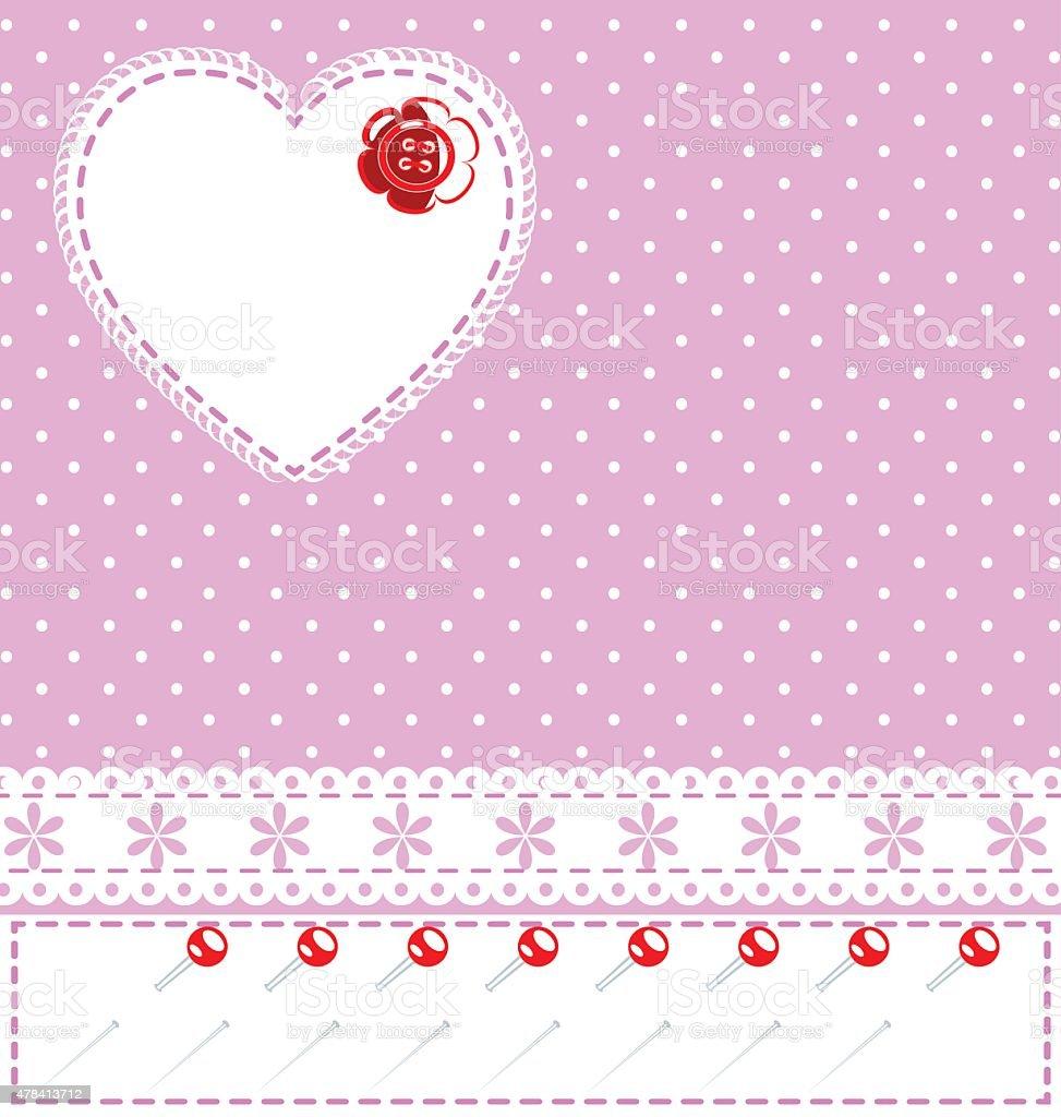 pink sewing fantasy vector art illustration