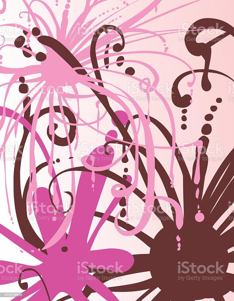 Pink Sworl vector art illustration
