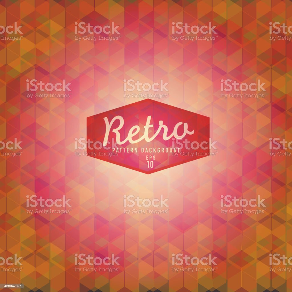 Textured and colorful retro triangle background vector art illustration
