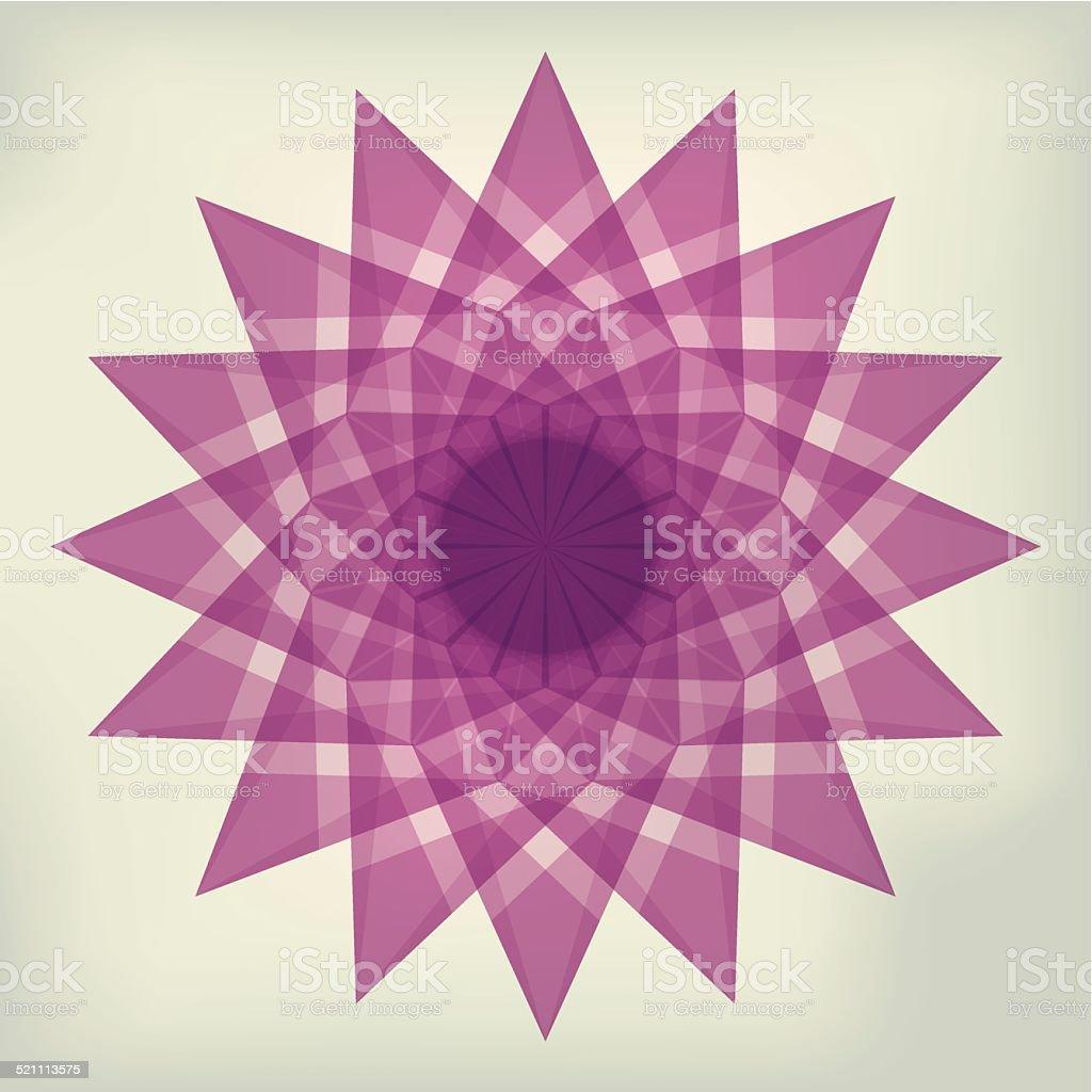 Pink tissue paper star vector art illustration