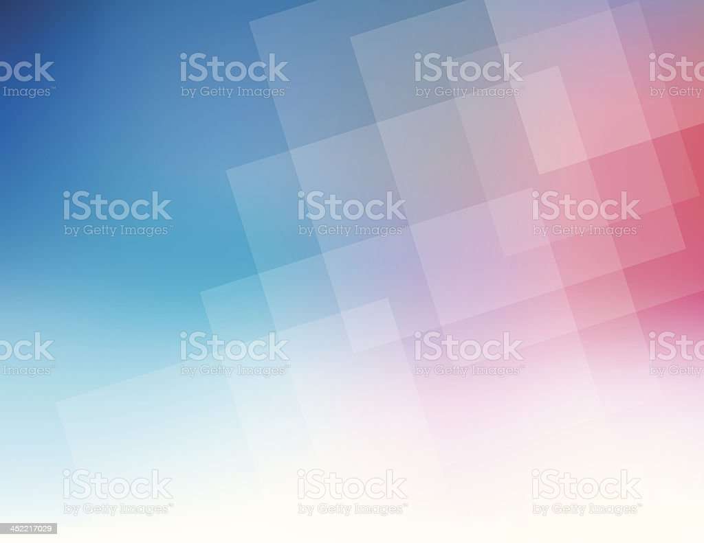 Pink to blue graduated squares abstract background royalty-free stock vector art
