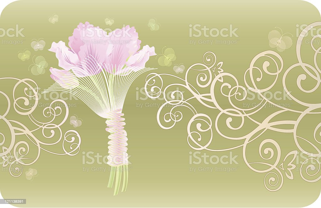 Pink Tulips vector art illustration