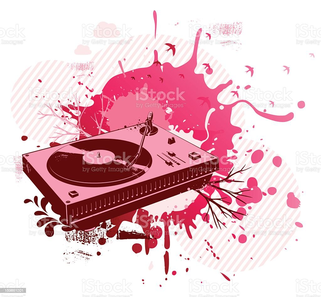 Pink turntable design royalty-free stock photo