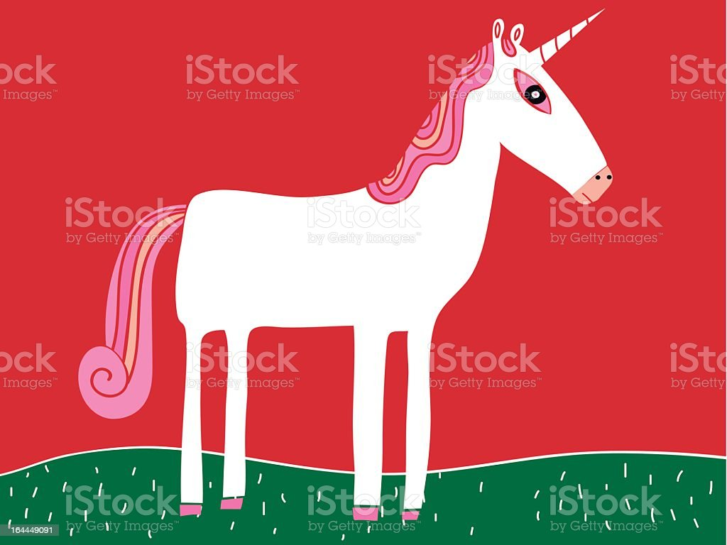 pink unicorn royalty-free stock vector art