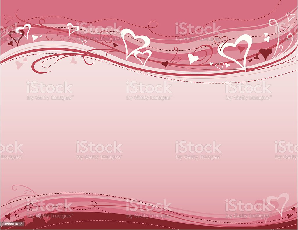 Pink Valentine's Background royalty-free stock vector art