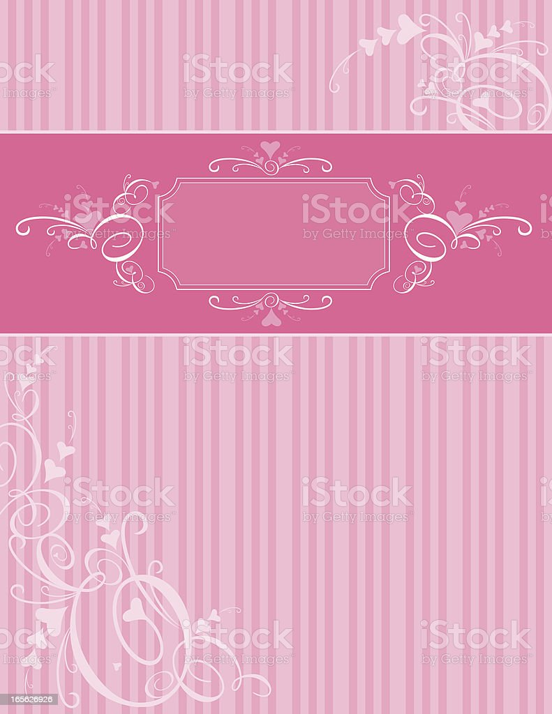 Pink Valentine's Day Stripes royalty-free stock vector art