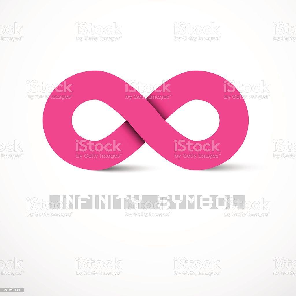 Pink Vector Infinity Symbol vector art illustration