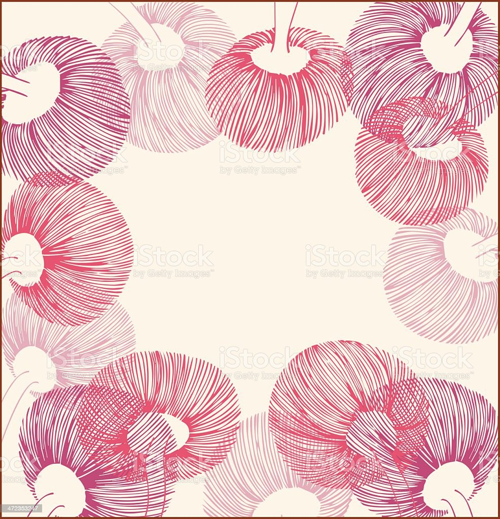 Pink vintage flower lace banner royalty-free stock vector art