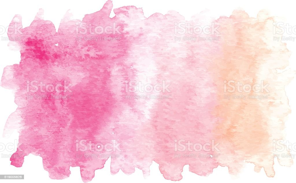 Pink Watercolor Banner vector art illustration