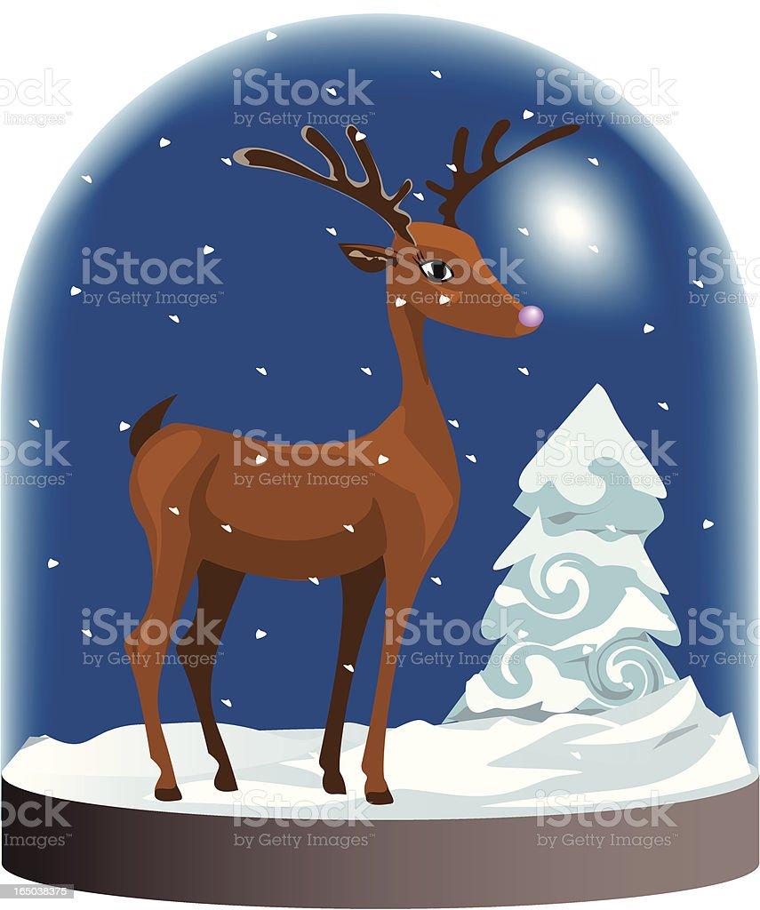 Pinknose Reindeer royalty-free stock vector art