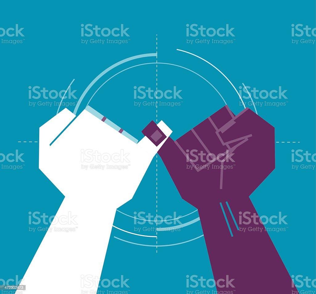 pinky swear vector art illustration