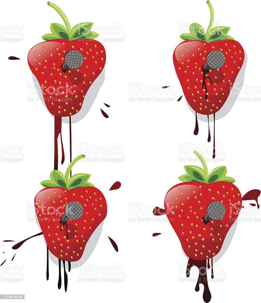 Pinned strawberries royalty-free stock vector art