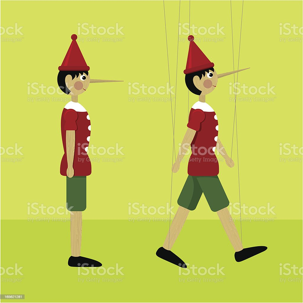Pinocchio marionette royalty-free stock vector art