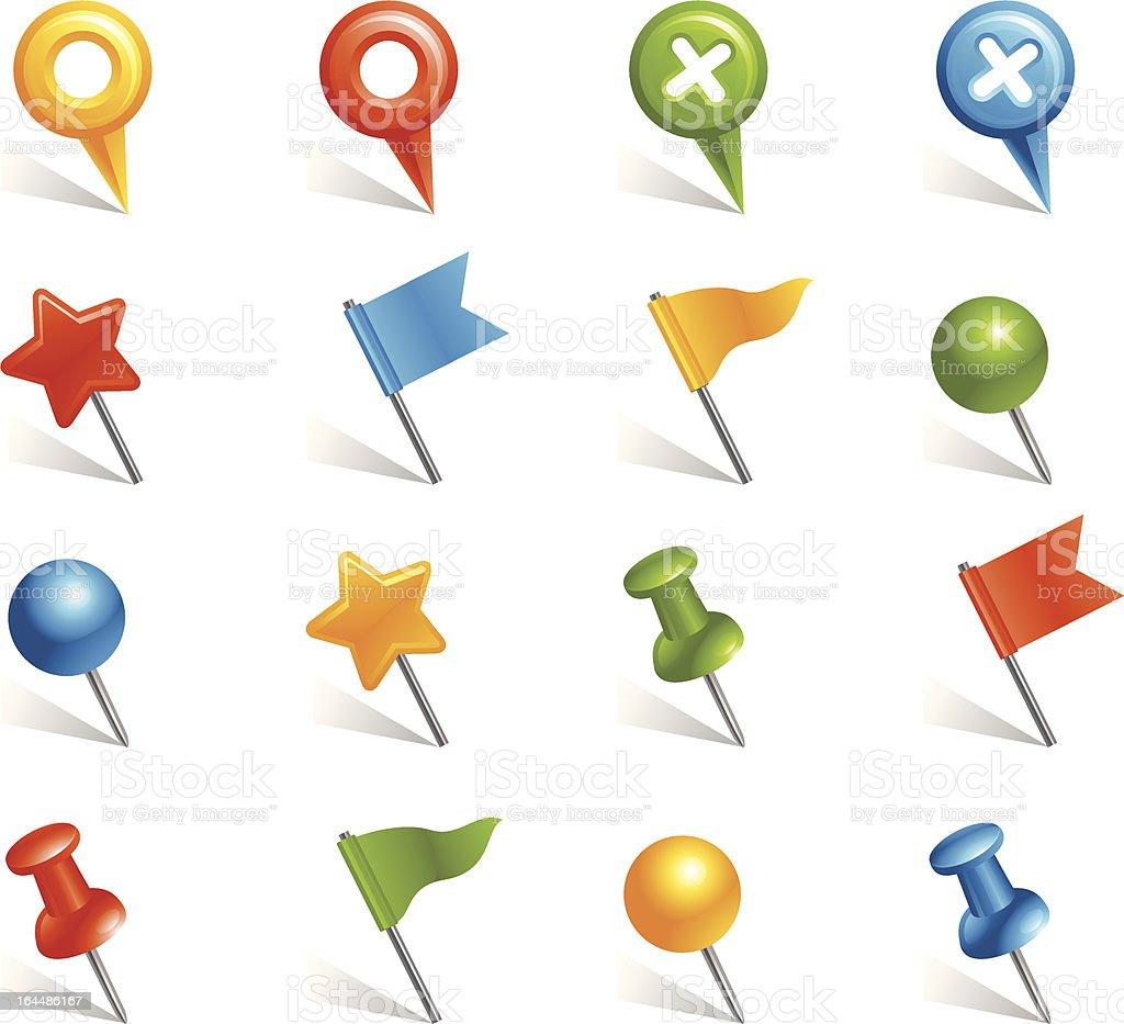 Pins and Tacks Icon royalty-free stock vector art