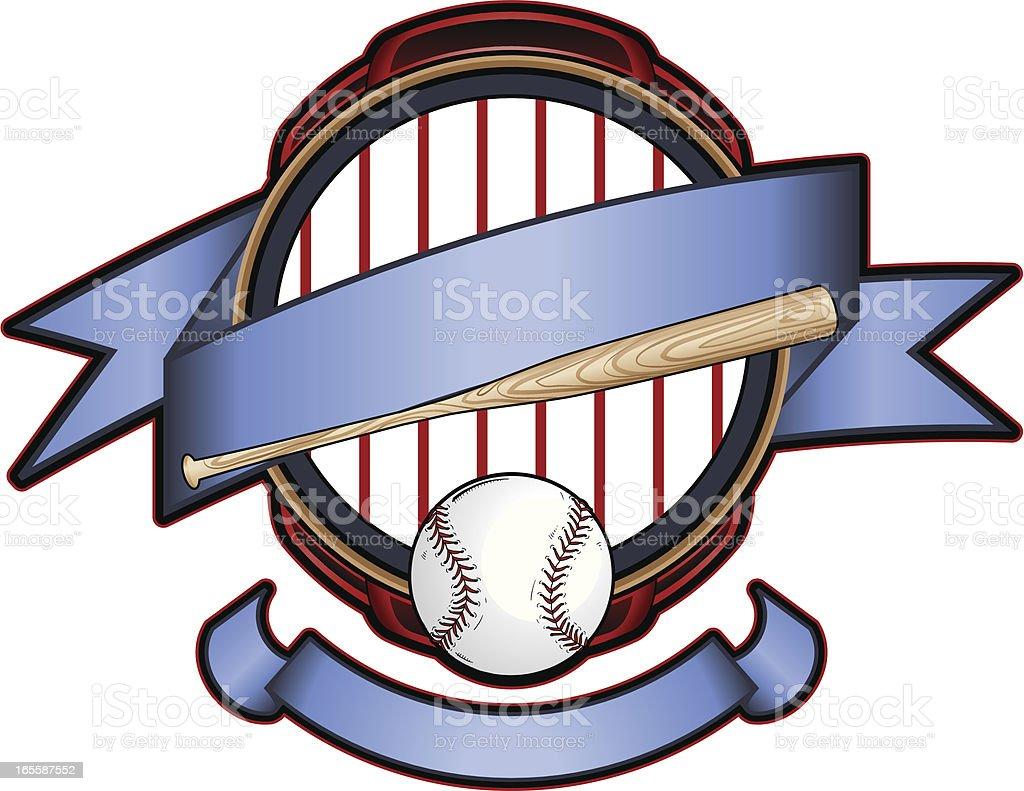Pinstripe Baseball logo vector art illustration