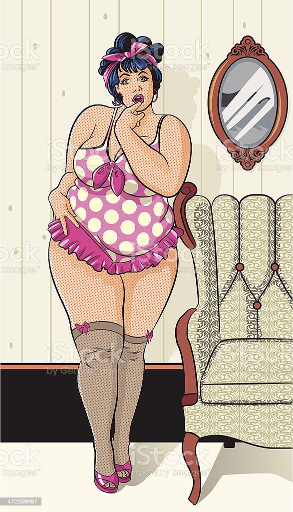 Pin-Up Girl Sex Symbol royalty-free stock vector art